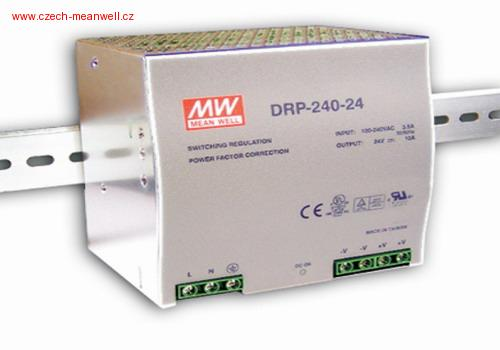DRP-240-24 Mean Well Zdroj na DIN 240W 24V