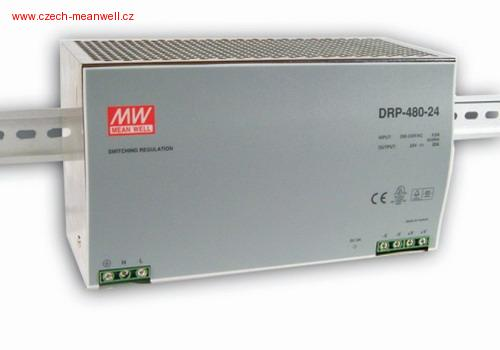 DRP-480-24 Mean Well Zdroj na DIN 480W 24V