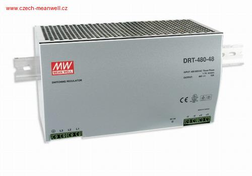 DRT-480-24 Mean Well Zdroj na DIN 480W 24V 3f