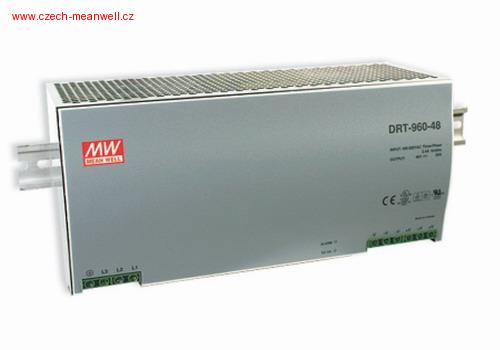 DRT-960-24 Mean Well Zdroj na DIN 960W 24V
