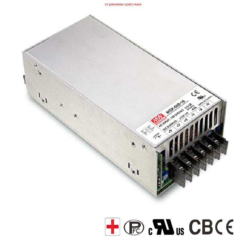 MSP-600-12 Mean Well Spínaný zdroj Medical 600W 12V