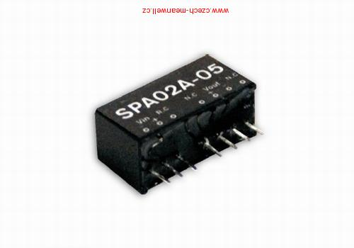 SPA02A-05 Mean Well Měnič DC/DC modulový 2W 5V